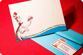 Baby Shower Invitation Cards U2013 Dr Seuss Party Series Invites U2013