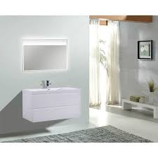 44 Inch Bathroom Vanity Moreno Mob 42 Inch Wall Mounted Modern Bathroom Vanity With
