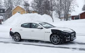 2018 maserati ghibli spied in sweden angry look prototype hides