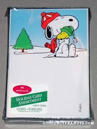 snoopy cards peanuts christmas cards collectpeanuts
