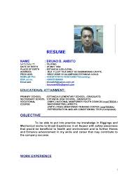 Sample Resume Doc by Bruno B Ambito Resume New Update Doc