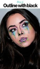 halloween 2017 how to create watercolor pop art makeup glamour
