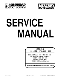 Mercury 25 Hp 2 Stroke Wiring Diagram Mercury Black Max 150 Service Manual Wiring Diagrams Wiring Diagrams