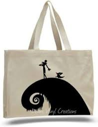 nightmare before sally emoji tote bag canvas bags