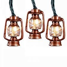 kurt adler ul 10 light brass lantern light set home
