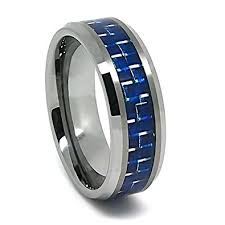 carbon fiber wedding rings 8mm tungsten carbide blue carbon fiber wedding ring sizes