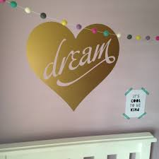 dream heart wall decal jade s room colour chart