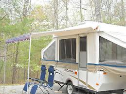 Awning For Travel Trailer 7 U0027 Shademaker Classic Bag Awning Rail Included Free Ups Pop Camper