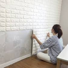interior wallpapers for home art3d 6 sq ft peel and stick 3d wall panels white brick wallpaper