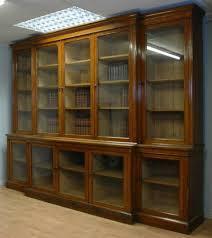 Antique Oak Bookcase With Glass Doors Antique Library Bookcases Library Bookcase With Doors Vintage 11ft