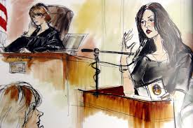 courtroom sketches of celebrities