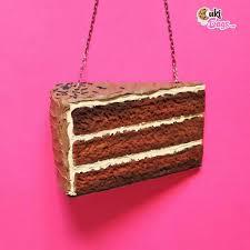 cake purse slice of chocolate coffee cake purse