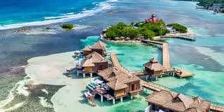 the caribbean u0027s first overwater hotel sandals resorts opens over