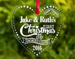 engagement christmas ornament etsy uk