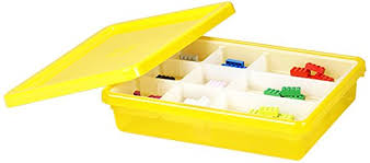 Lego Storage Containers Amazon - shopping for lego storage bin medium yellow