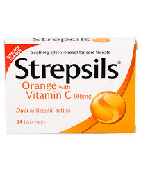 strepsils orange with vitamin c 100mg pack of 36 firstaidfast