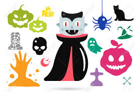 halloween kids cartoons set of halloween costume characters vector halloween mascots
