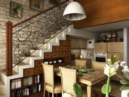 Country Living Room by Living Room Industrial Spiral Stairs In Small Country Living