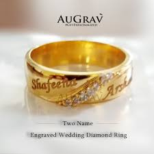 wedding ring with name engraved this gold ring with name is unique indian style for wedding