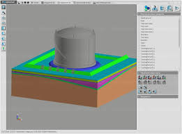 computer simulation of ground freezing under oil tank frost 3d