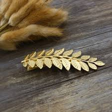 gold hair accessories hair barrettes gold leaf hair barrettes hair bridal hair