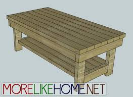 2x4 Outdoor Furniture by More Like Home Day 13 Build A Chunky Coffee Table