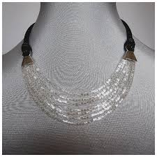leather necklace design images Romantic contemporary jewelry design leather necklace beads jpg