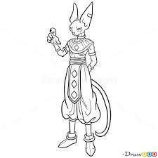 draw beerus dragon ball