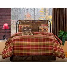 Plaid Bed Set Montana Morning Rustic Bedding