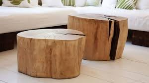 Tree Stump Side Table Awesome Wood Stump Coffee Table Diy Crafthubs New Within 9