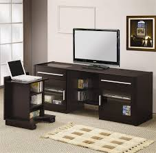 Cappuccino Computer Desk Connect It 59 Inch Tv Console In Cappuccino Finish By Coaster 700674