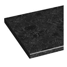 Bathroom Vanity Unit Worktops by Orchard Florence Midnight Black Vanity Unit Countertop 337 X 1800