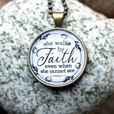 faith gifts in necklace christian jewelry by dotsofsugar dots