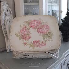 shabby chic vintage basket with pink hydrangea wreath debi