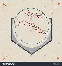 Home Plate by Baseball Home Plate Ball Sport Graphic Stock Vector 307774223