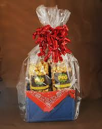 popcorn gift baskets denim caramel popcorn gift basket the kitchen peg board