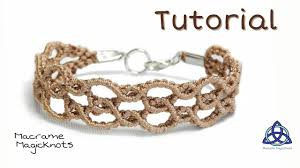 bracelet knots youtube images Macrame bracelet tutorial easy wavy bracelet by macrame magic jpg