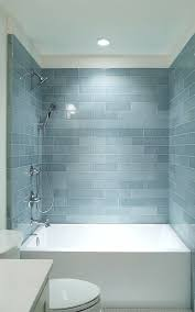 glass subway tile bathroom ideas shower blue glass subway tile shower blue shower tile designs