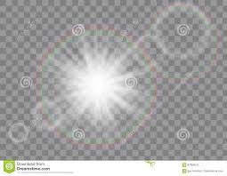 Impuls K Hen Sun Strahlen Auf Transparentem Hintergrund Vektor Abbildung Bild