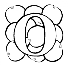 letter o coloring page simple o alphabet coloring pages words