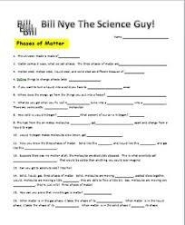 bill nye phases of matter video worksheet physics pinterest