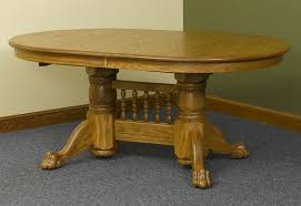 Dictionary Pedestal Double Pedestal Claw Foot Table Walnut Creek Furniture