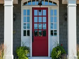painted exterior doors painted front door ideas with grey wall hd