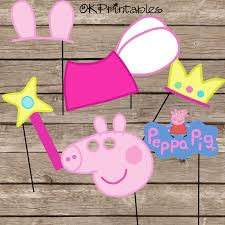 peppa pig party photo booth props peppa pig party peppa pig