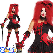ladies jester harlequin halloween costumes womens fancy dress ebay