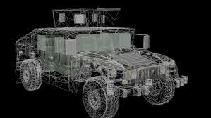 black military jeep humvee military jeep with a machine gun 3d model in combat 3dexport