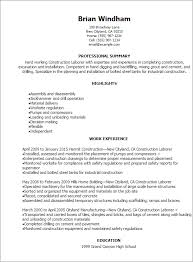 general resume template quality samples cover letter labor laborer