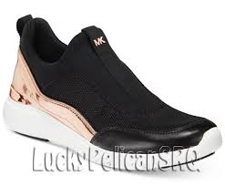 michael kors ace sneakers black rose gold nwb michaelkors