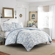 laura ashley brompton sophia blue comforter u0026 duvet set bedroom