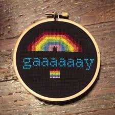 Gaaay Seal Meme - gay cross stitch gaaaaaay seal rainbow lgbt lgbtq pride gift